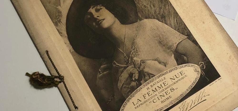 Materiali Fondo Pacelli: Sperduti nel buio o de La femme nue (con l'autografo di Lyda Borelli)