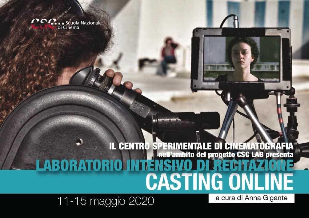 Casting on line. Laboratorio intensivo di recitazione( 11-15 maggio 2020)